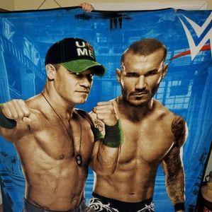 WWE fleece blanket,